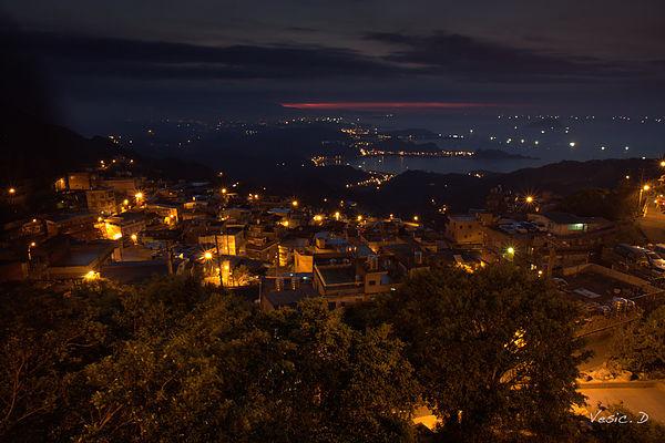 [新北日落夜景]九份山城景致-日落與夜景