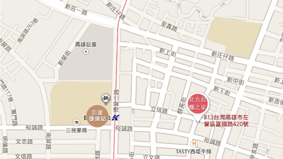 北方拉麵之家地圖