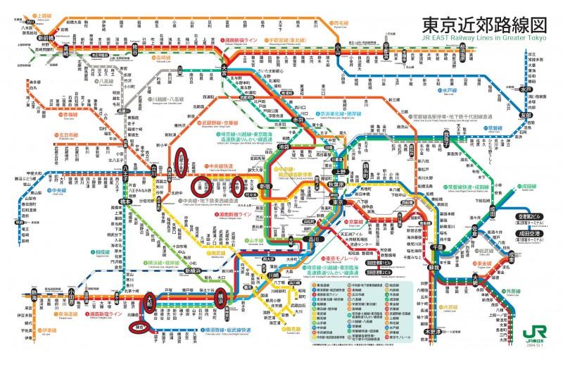 東京近郊地鐵圖