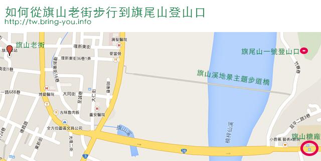 旗尾山登山口地圖