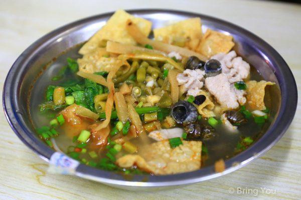 【柳州必吃美食】總算吃到夢寐以求的「柳州螺獅粉」之晚上閒閒沒事做來去柳州火車站吃宵夜