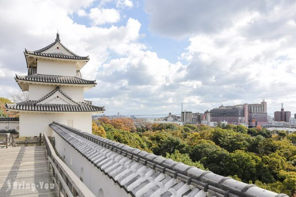 【兵庫自由行】日本百大名城之沒有天守閣的「明石城」