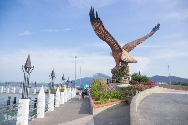 【蘭卡威瓜鎮】蘭卡威瓜鎮景點之巨鷹廣場景觀、免稅購物商場