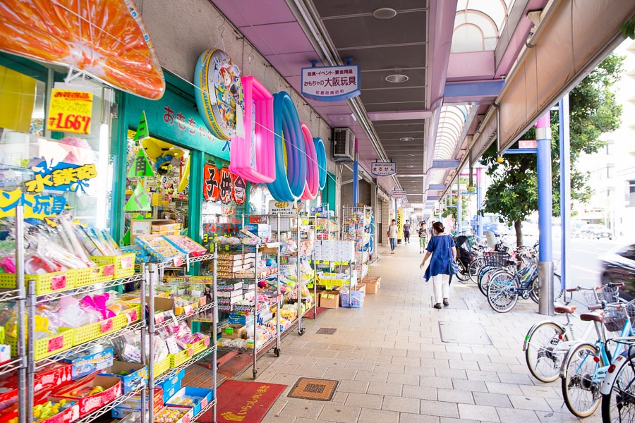 【大阪親子景點】松屋町筋商店街 – 童趣十足好逛好買的玩具街