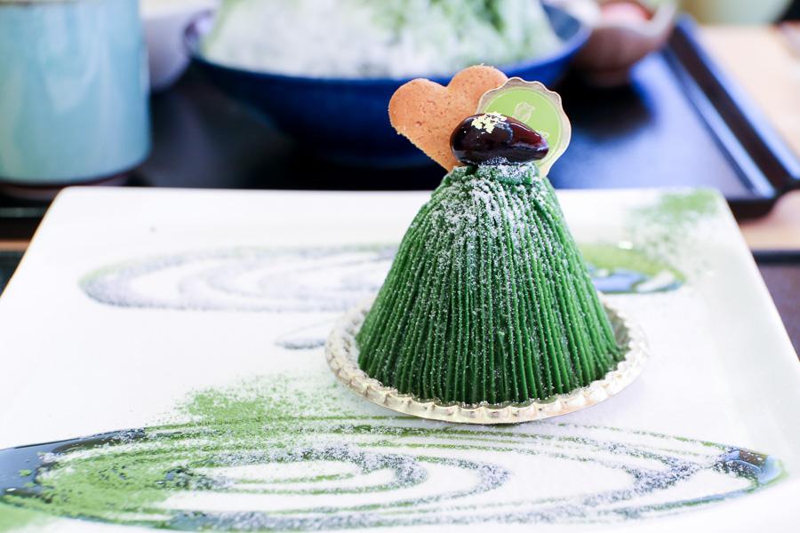 【京都抺茶甜點下午茶】濃茶蒙布朗&抹茶刨冰「和カフェ 季の音」
