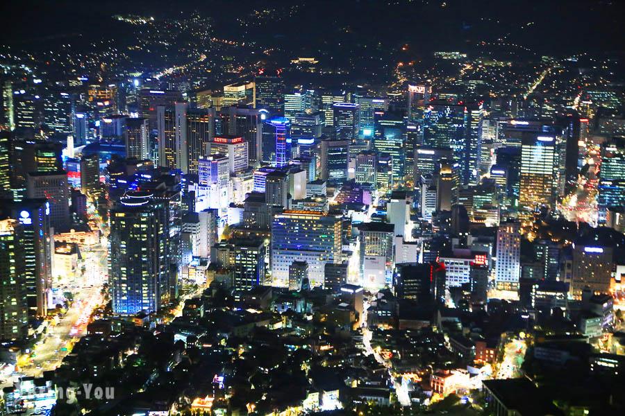 【韓國首爾景點】南山首爾塔看夜景怎麼去 – 走路+纜車交通方式、購票、賞楓分享