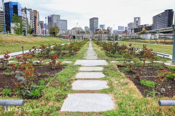 【⼤阪淀屋橋景點】大阪中之島公園散策:玫瑰園、中央公會堂、圖書館