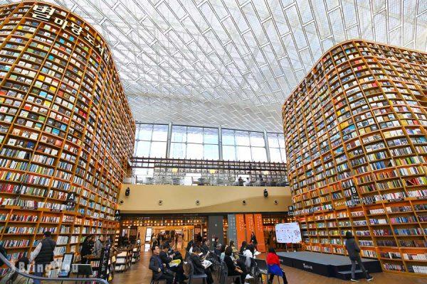 【韓國首爾】星空圖書館 Coex Mall,三成站百貨商場文青打