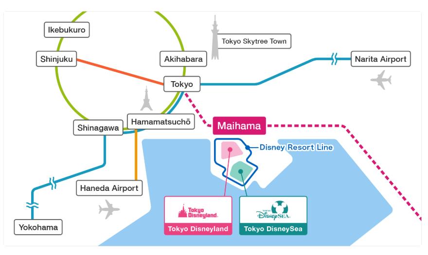 東京迪士尼交通