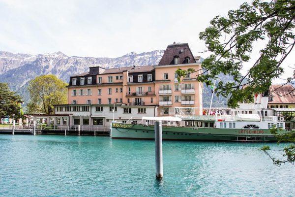 【茵特拉根住宿推薦】Hotel Du Lac Interlaken:Interlaken Ost車站