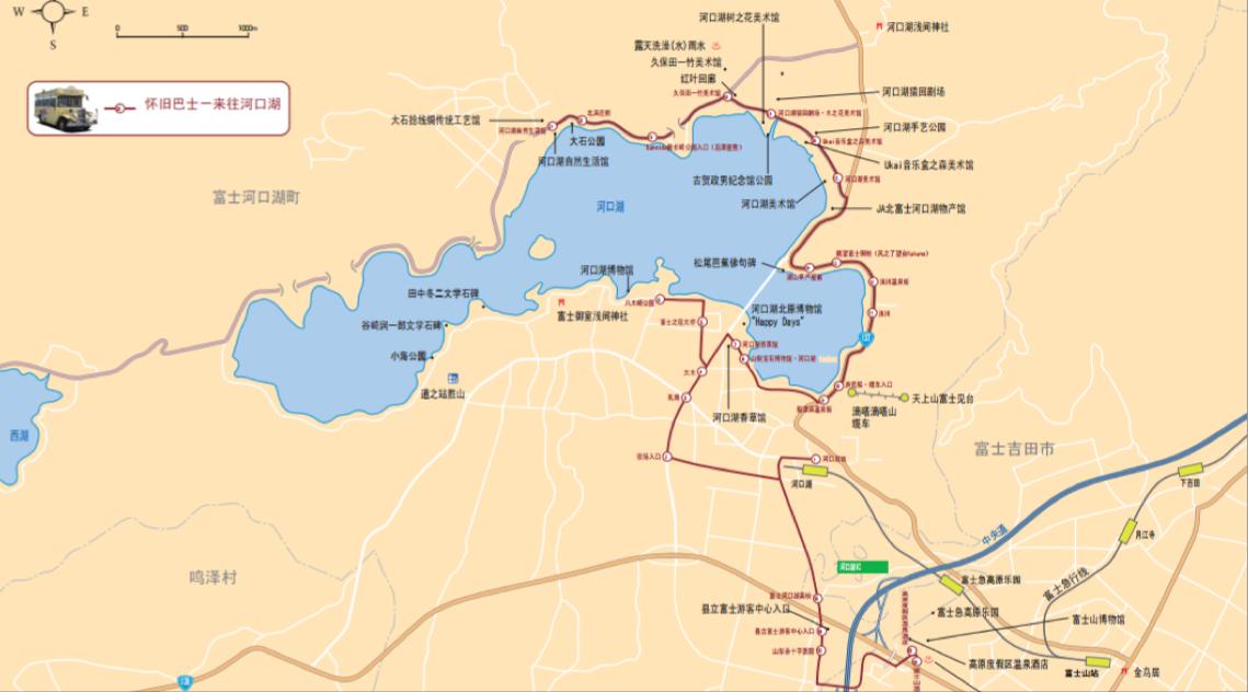 河口湖地圖