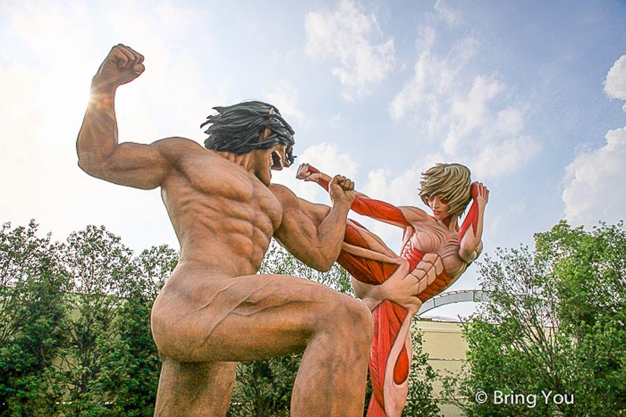 【日本大阪環球影城】限定版進擊的巨人、MH魔物獵人展覽