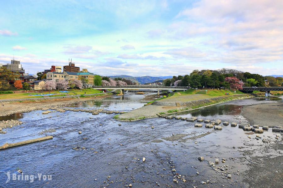 【京都鴨川散策】出町柳車站的跳烏龜與鴨川美景