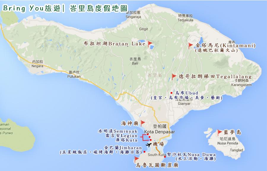 bali travel map