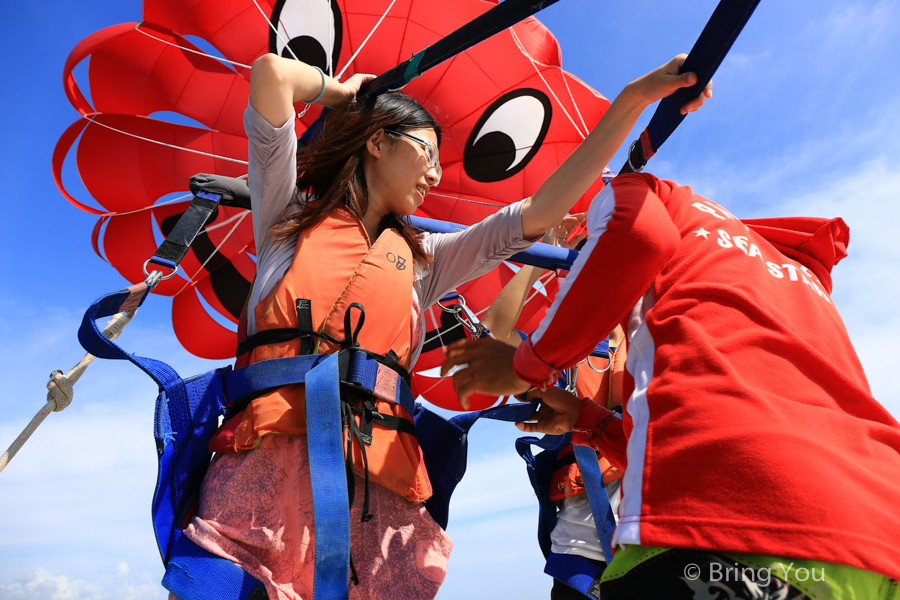 parasailing bali 峇里島南灣