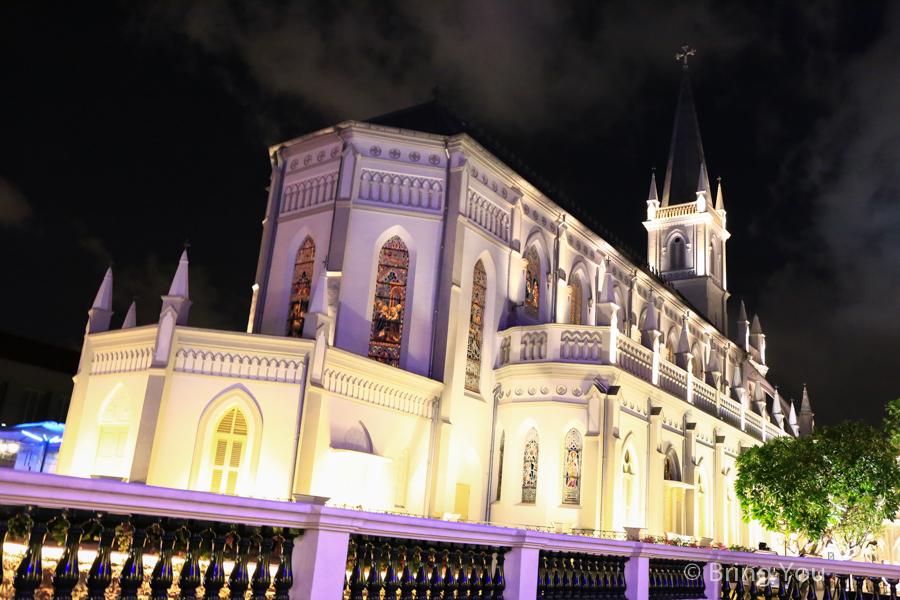 【新加坡夜生活景點】讚美廣場(Chijmes)哥德建築歐洲風情酒吧!地鐵政府大廈站