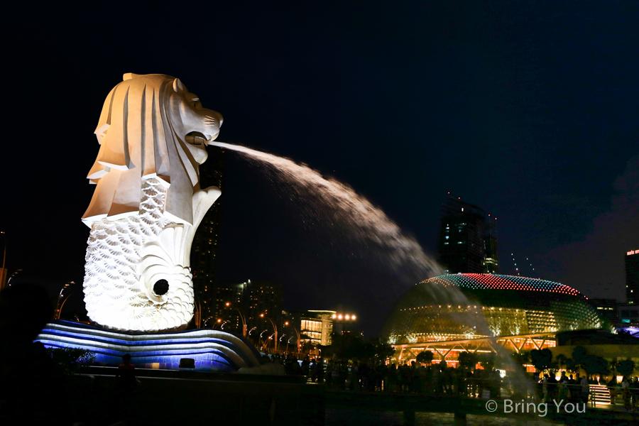 【新加坡河河畔散步路線】魚尾獅公園周邊景點推薦:浮爾頓酒店絕美夕陽夜景