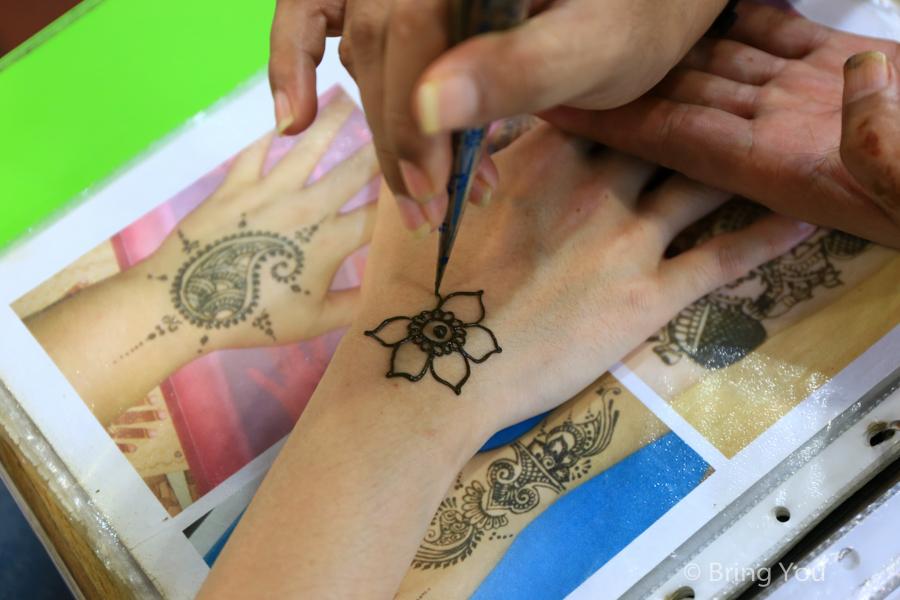 新加坡小印度Henna印度彩繪體驗