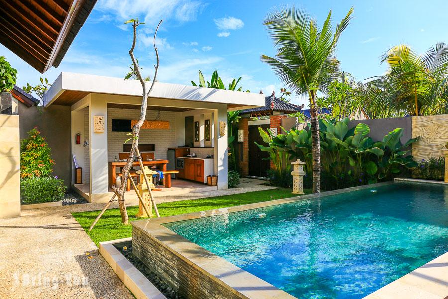 【峇里島金巴蘭住宿】情侶專屬浪漫蜜月Villa,Lumbini villa