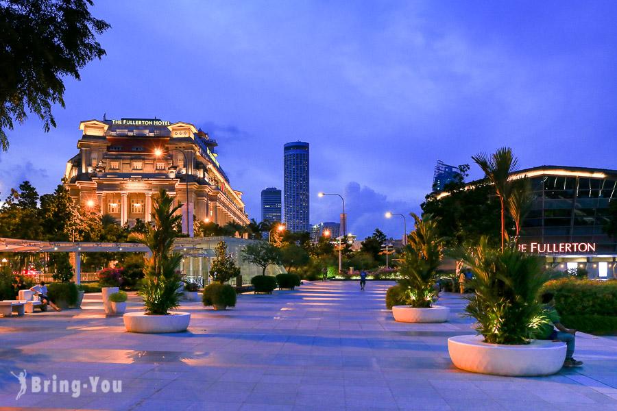 新加坡河河畔夜景