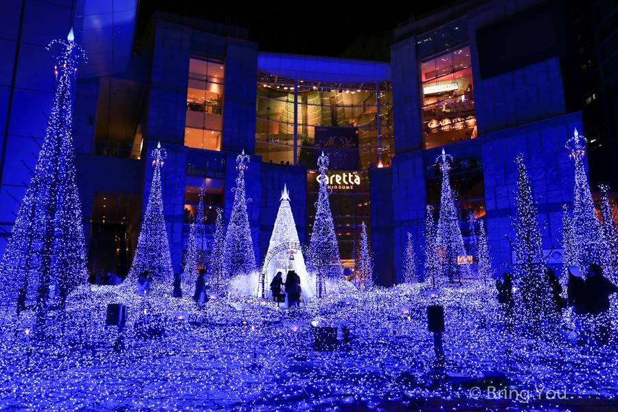 【東京聖誕燈飾景點】超美汐留點燈「Caretta Illumination 2019~2020」藍色星谷歡度聖誕節