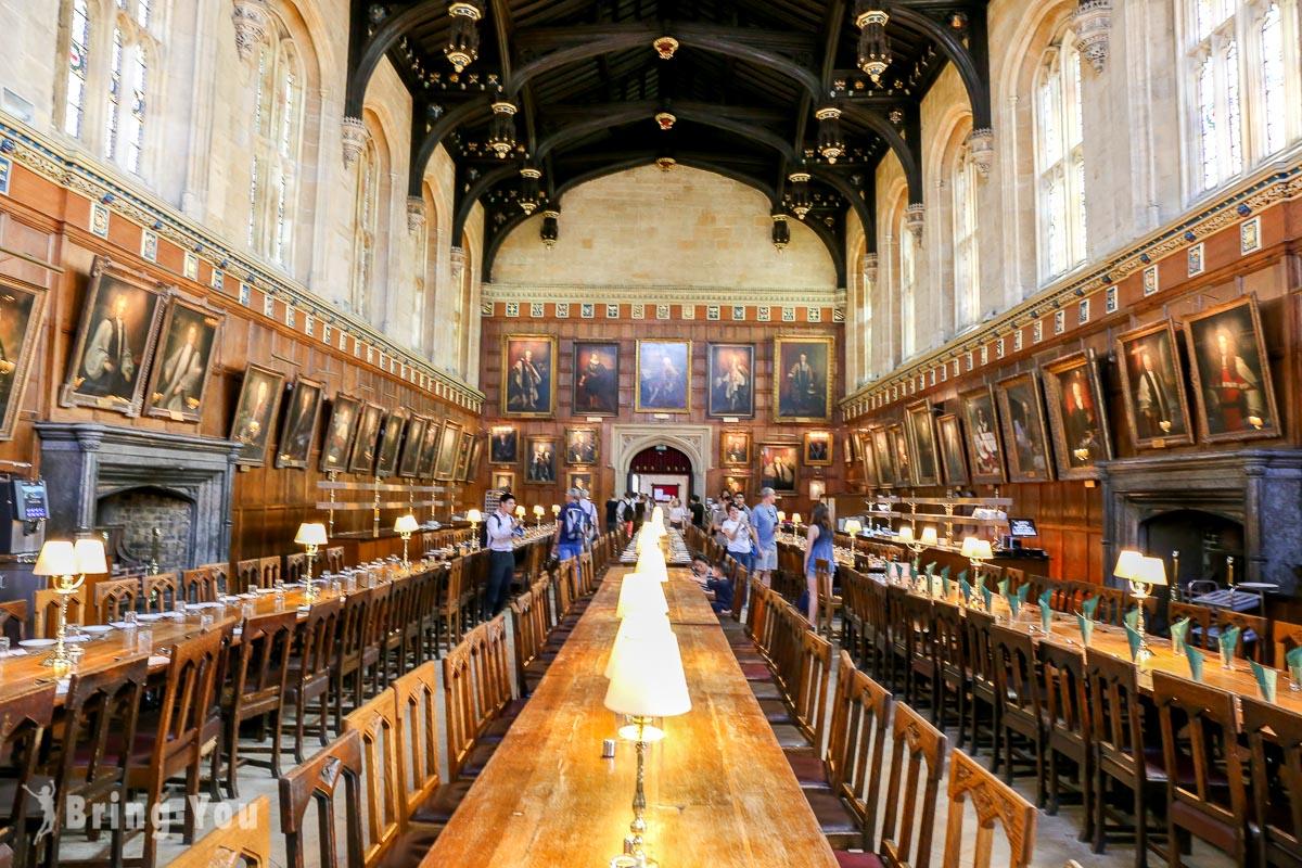 【牛津必去景點】牛津大學 基督堂學院(Christ Church)餐廳:宛如步入哈利波特電影魔法場景