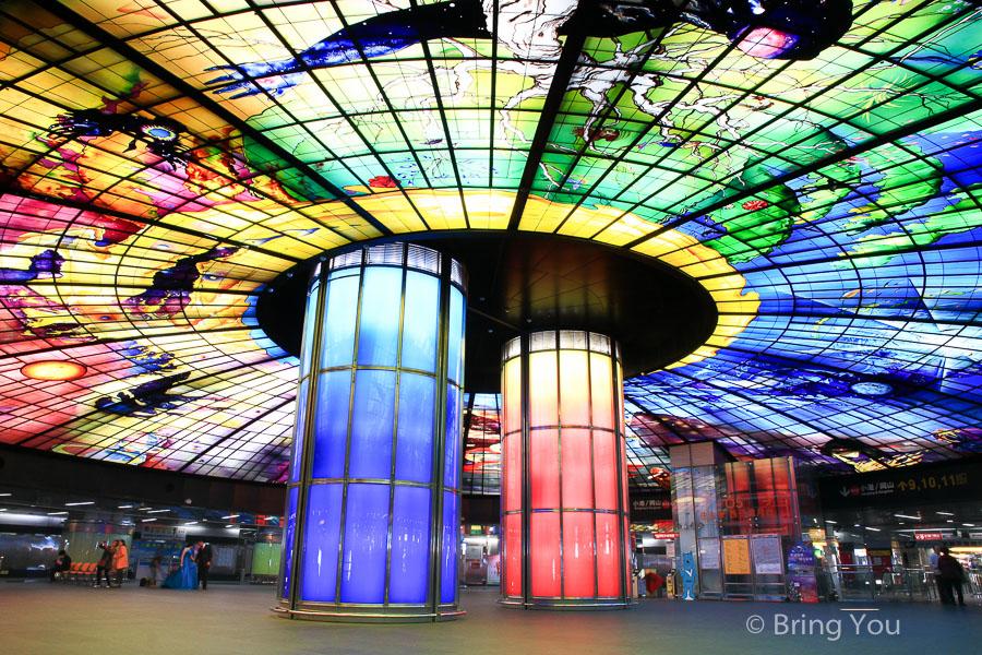【高雄新興區景點】美麗島捷運站光之穹頂,令人驚豔的國際級大師作品