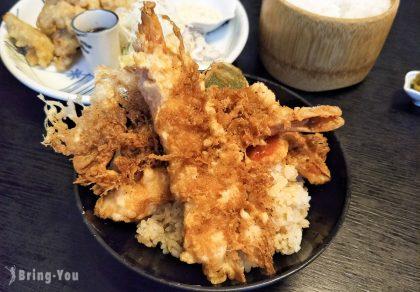【別府美食】「とよ常」,人氣老店的美味特上天丼 炸蝦當真好吃~