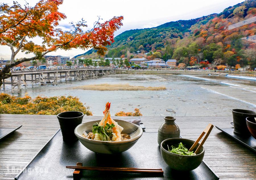 【嵐山渡月橋絕景餐廳】蕎麥麵 嵐山よしむら:賞景兼吃京都蕎麥麵