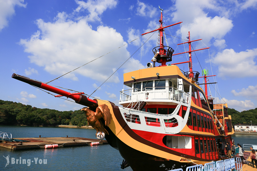 【佐世保好玩體驗】九十九島遊覽船:搭上海盜船穿梭絕景島嶼!