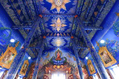 【清邁清萊景點】來自地獄的藝術品「黑廟/黑屋博物館」+藍廟絕美海龍宮
