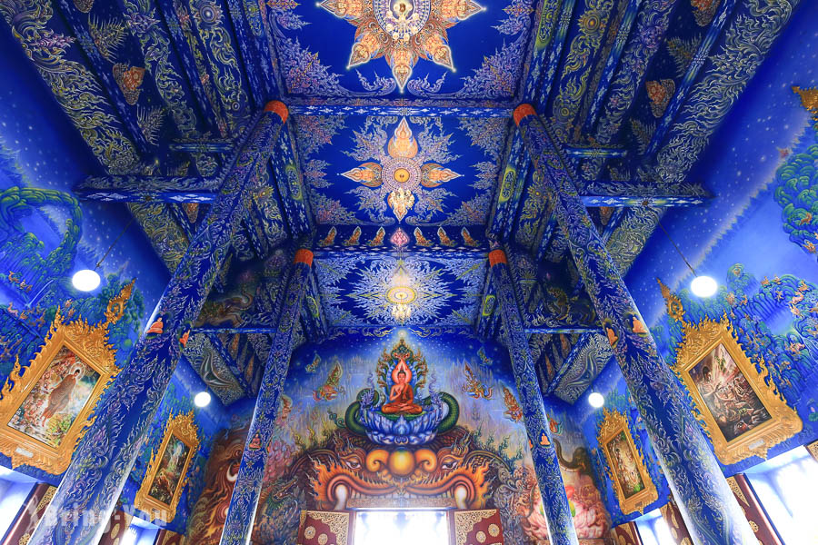 【清萊景點】藍廟:我到深海海龍宮啦!參訪白廟徒弟的金藍作品