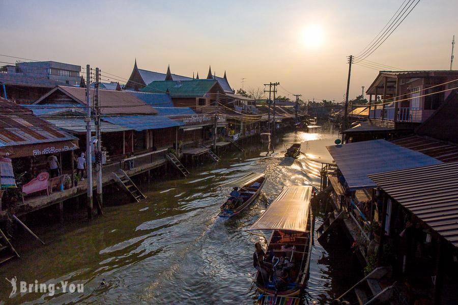 【曼谷好玩景點推薦】安帕瓦水上市場、樹中佛寺、泰拳公園、螢火蟲河道