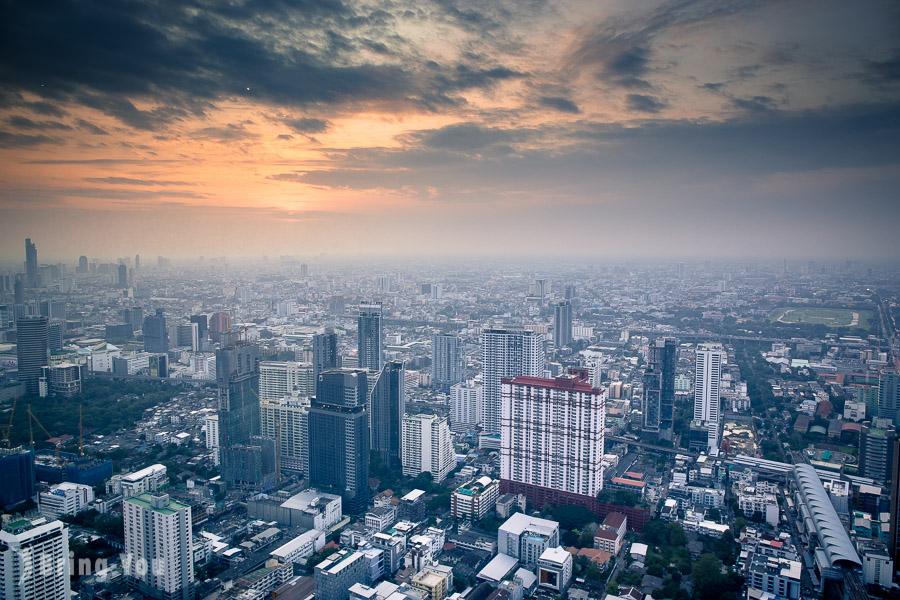 【曼谷夜景】超酷360度旋轉觀景台就在「Baiyoke Sky Hotel」
