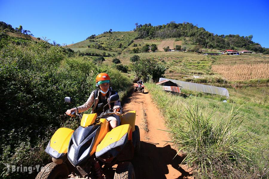 【泰北清邁好玩戶外活動】自駕ATV穿越叢林前進湄林山區「Mon Cham」梯田絶景