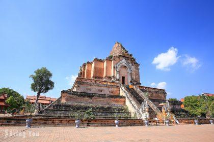 【泰國清邁景點】清邁最高的建築:柴迪隆寺 置身清邁古城區中的古老佛寺,感受「大佛塔」的雄偉與莊嚴!