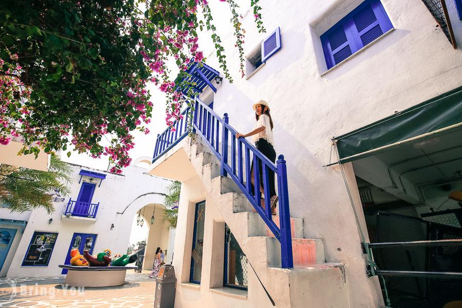 【華欣七岩景點】聖托里尼遊樂園:超好拍照的泰國小希臘
