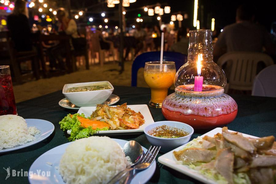 【沙美島餐廳】Pray Talay Seafood 美味晚餐&Ploy Talay Restaurant 看火舞