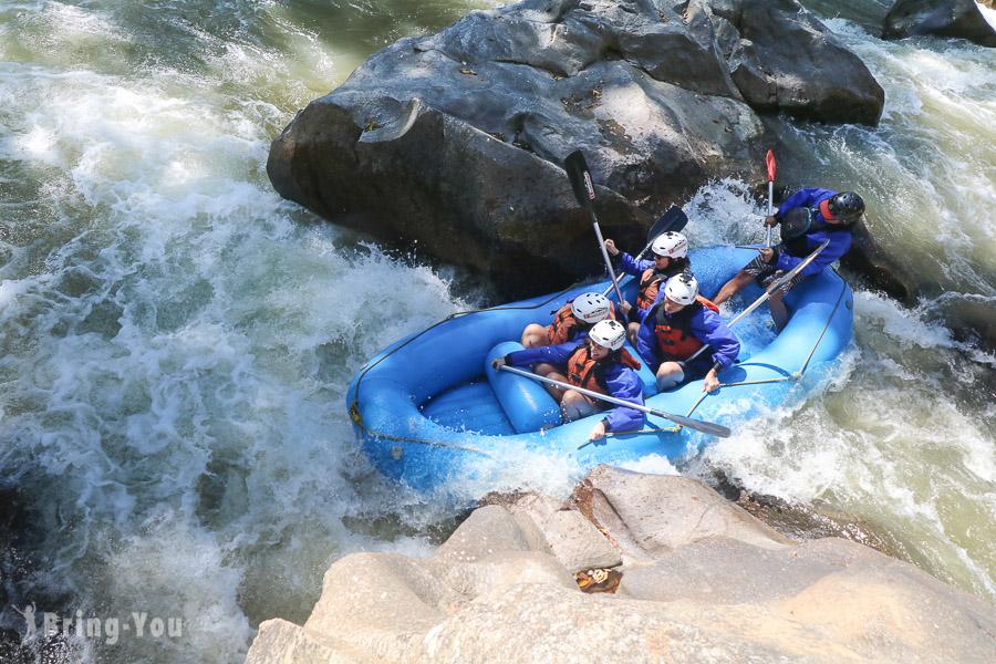 清邁湄汀河急流泛舟