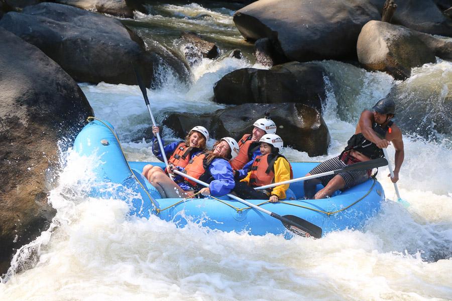 【泰北清邁急流泛舟】湄汀河(Mae Tuen River)10公里白水漂流