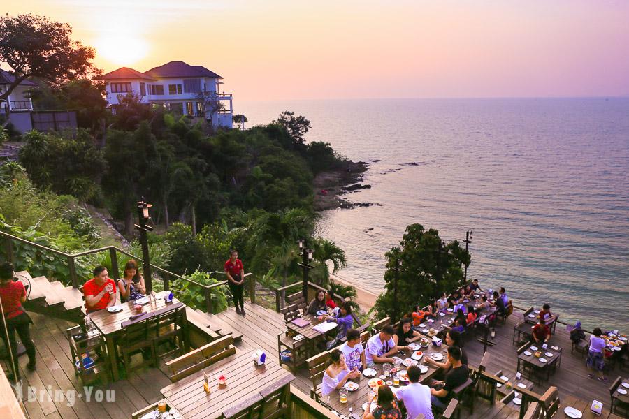 【泰國好吃美食】芭達雅懸崖餐廳大啖海鮮浪漫看夕陽「Rimpa Lapin Pattaya」