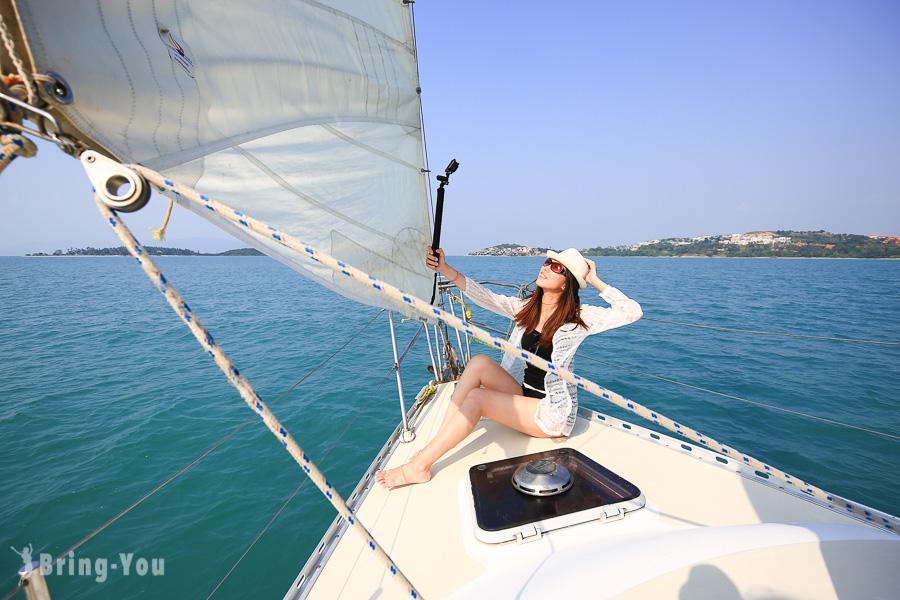 【蘇梅島|泰國度假天堂另類玩法】搭乘私人帆船來趟浪漫夕陽航海之旅