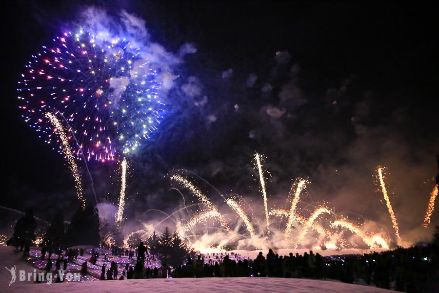 【日本冬季花火大會】雪地上的震撼煙火秀!新潟越後妻有「雪花火」