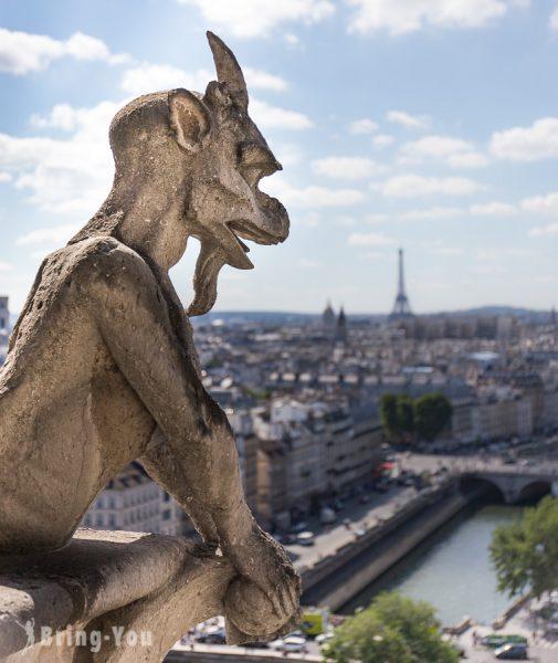 巴黎聖母院石像鬼特寫