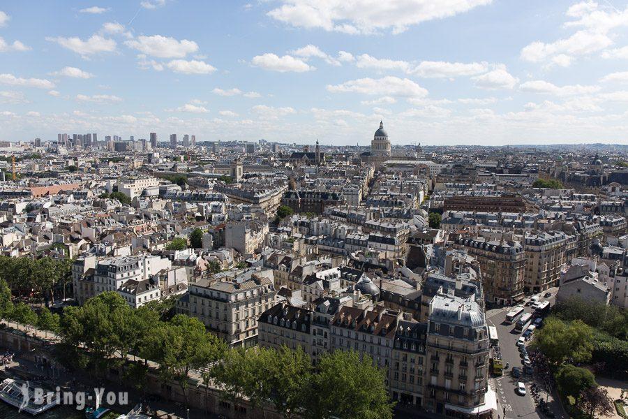 巴黎聖母院俯瞰城市