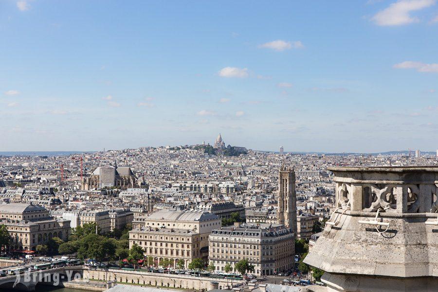 巴黎聖母院眺望聖心堂