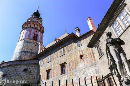 【捷克】庫倫洛夫Český Krumlov地標,登「彩繪塔」俯瞰CK小鎮