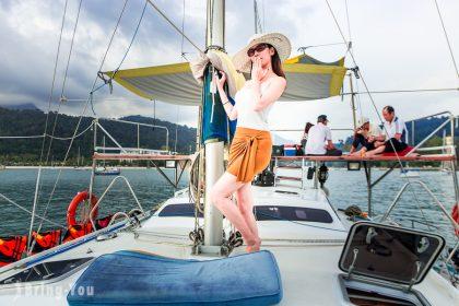 【蘭卡威好玩】搭乘遊艇來趟海上夕陽之旅(含海上跳水、海水沖浪)