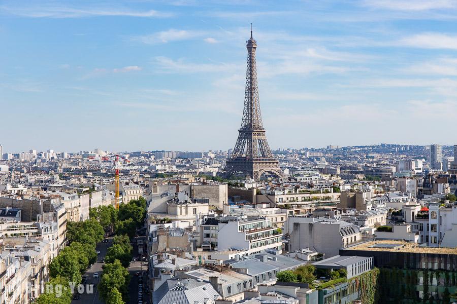 【巴黎景點】艾菲爾鐵塔(Tour Eiffel)最佳拍照景點、巴黎鐵塔夜晚燈光秀介紹