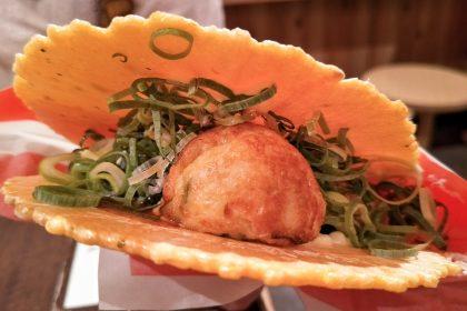 【道頓堀美食】超特色章魚燒仙貝 - 章魚燒道樂WANAKA(たん焼道楽 わなか)